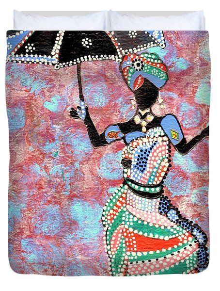 The Dancing Lady Duvet Cover by Connie Valasco