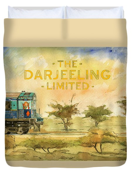 The Darjeeling Limited Poster Film Wes Anderson Duvet Cover