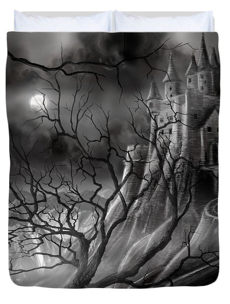 The Dark Castle Duvet Cover