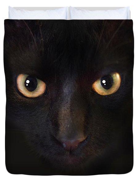 The Dark Cat Duvet Cover