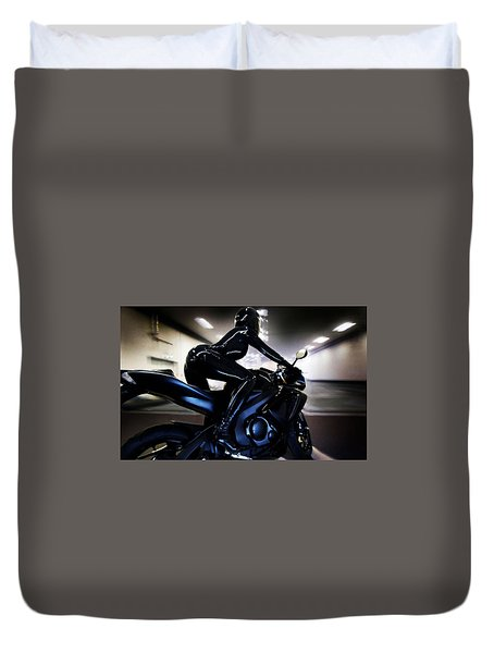 Duvet Cover featuring the photograph The Dark Knight by Lawrence Christopher