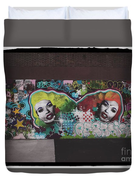 Duvet Cover featuring the photograph The Dark Side -  Graffiti by Colleen Kammerer