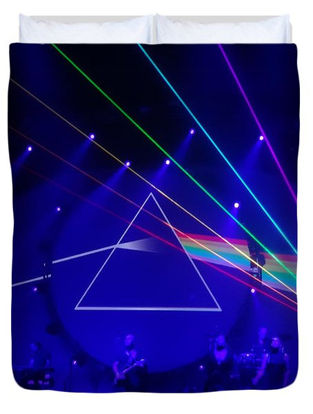 The Dark Side Of The Moon. Brit Floyd Space And Time World Tour 2015 Duvet Cover