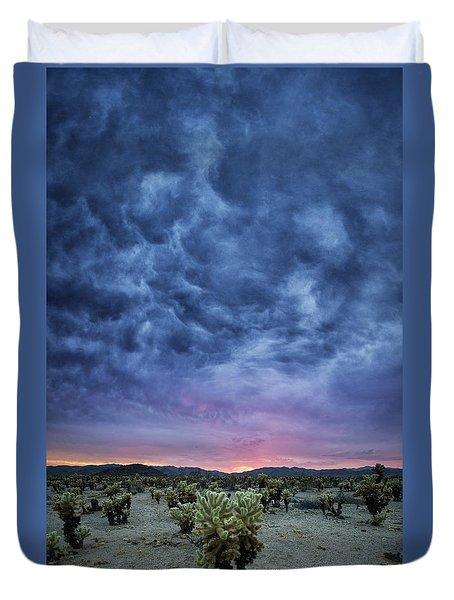 The Dark Sunset 2 Duvet Cover
