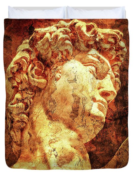 The David By Michelangelo Duvet Cover