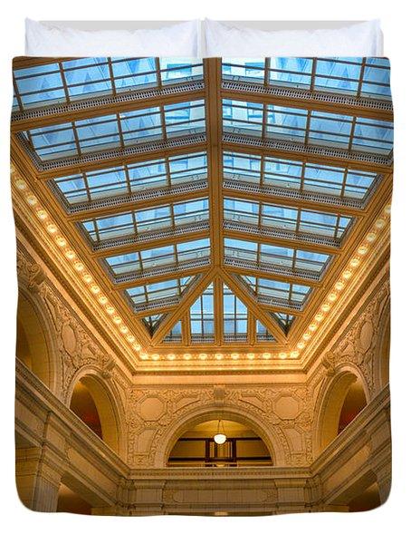 The David Whitney Building Duvet Cover