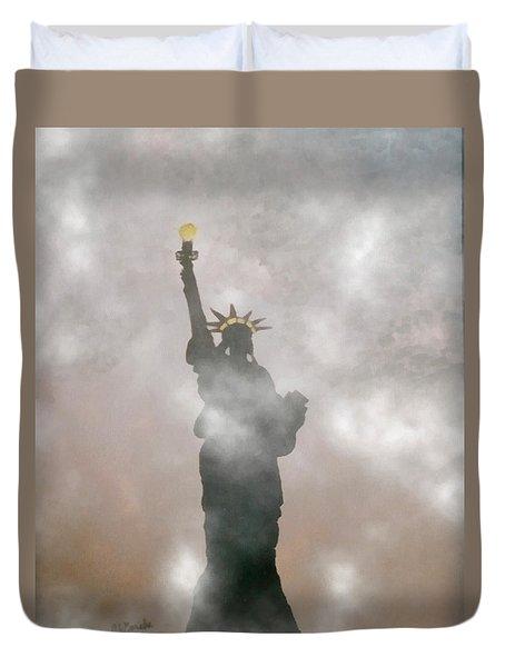 9/11 Darkest Day In Usa History Duvet Cover