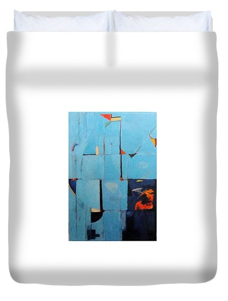 The Day Dispatches The Night Duvet Cover by Bernard Goodman