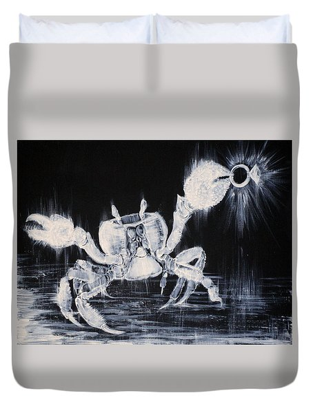 The Day The Crab Found The Lost Diamond Ring Duvet Cover by Fabrizio Cassetta