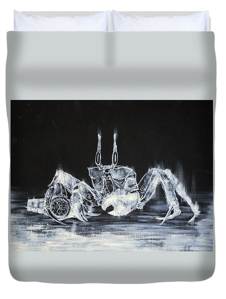 The Day The Crab Found The Lost Gold Watch Duvet Cover by Fabrizio Cassetta