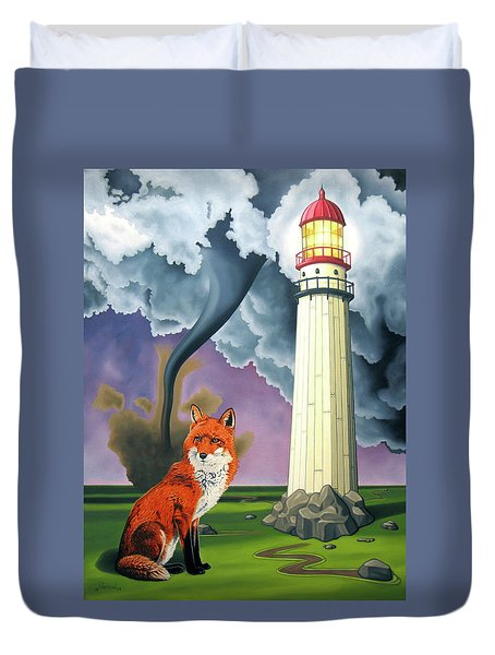The Day The Rocks Ran Away Duvet Cover