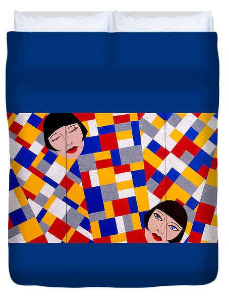 The De Stijl Dolls Duvet Cover by Tara Hutton