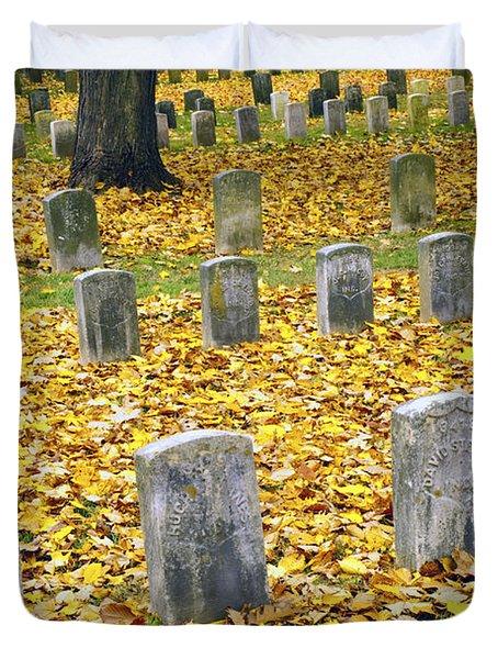 The Dead At Antietam Duvet Cover