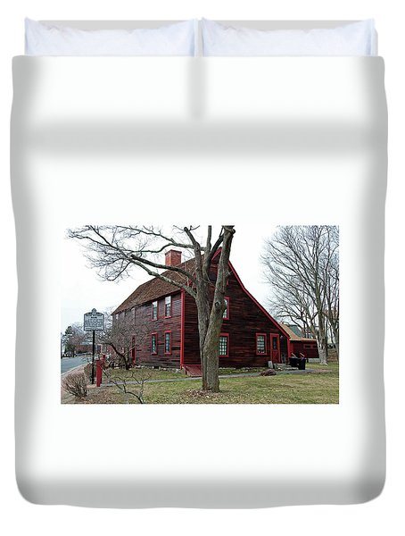 Duvet Cover featuring the photograph The Deane Winthrop House by Wayne Marshall Chase