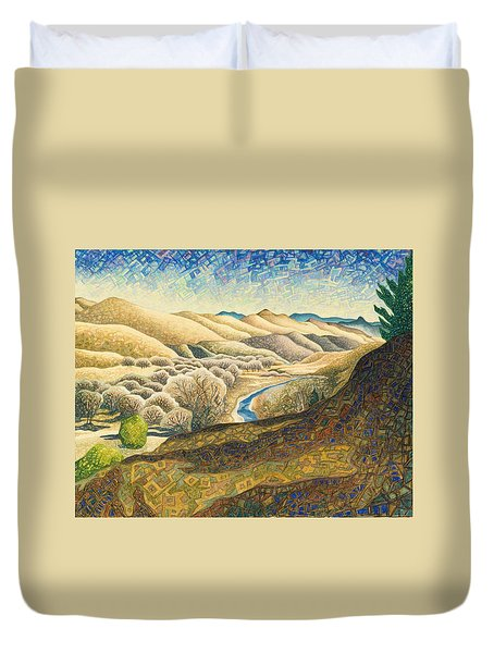 The Dearborn River Duvet Cover by Dale Beckman
