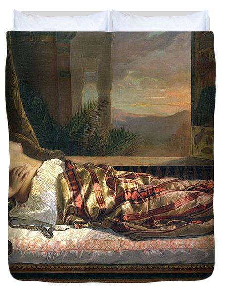 The Death Of Cleopatra Duvet Cover by German von Bohn