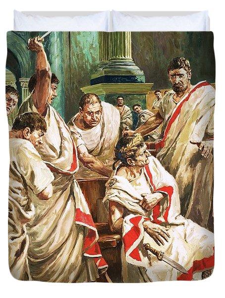 The Death Of Julius Caesar  Duvet Cover