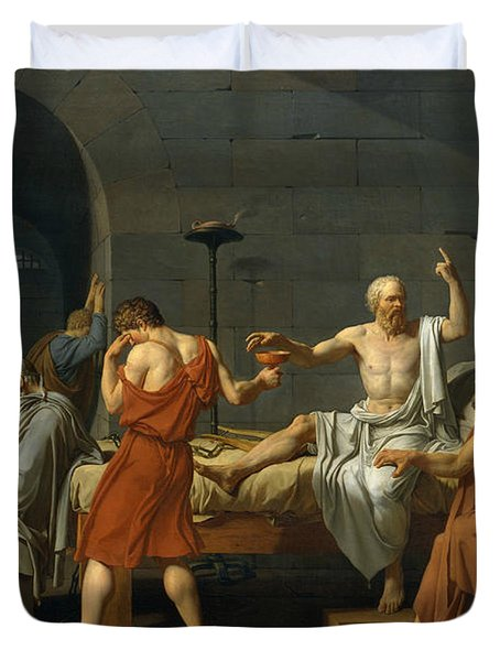 The Death Of Socrates, 1787 Duvet Cover