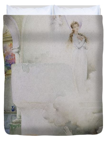 The Death Of The Virgin Duvet Cover by Guillaume Dubufe