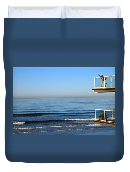 the Decks Duvet Cover by Bill Dutting