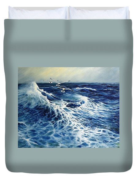 The Deep Blue Sea Duvet Cover by Eileen Patten Oliver