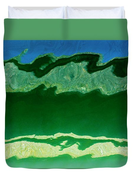 Duvet Cover featuring the photograph The Deep End by Wendy Wilton