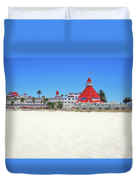 The Del Coronado Hotel San Diego California Duvet Cover