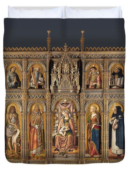 The Demidoff Altarpiece Duvet Cover