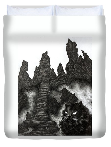 The Demon Cat Duvet Cover
