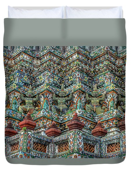 The Demons Of The Temple Duvet Cover