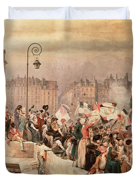 The Departure Of The Volunteers 1792 Duvet Cover by Jean Baptiste Edouard Detaille