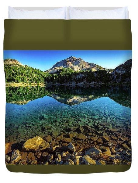 The Depths Of Lake Helen Duvet Cover