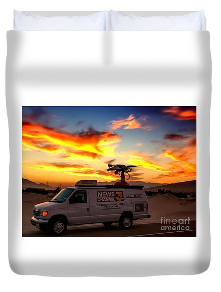 The Deserts News Leader Duvet Cover by Chris Tarpening