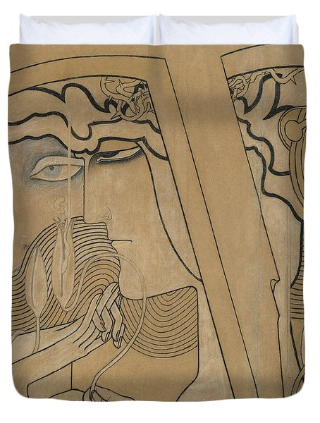 The Desire And The Satisfaction Duvet Cover by Jan Theodore Toorop