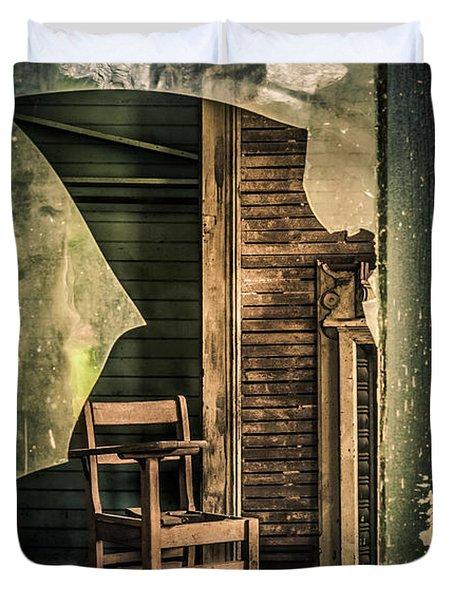 The Desk Duvet Cover by Phillip Burrow