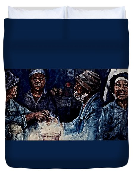 The  Desolation Of Poverty Duvet Cover by Hartmut Jager