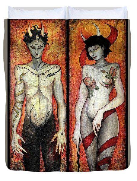 The Devils Duvet Cover by Dori Hartley