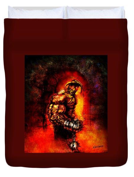 The Devil's Henchman Duvet Cover