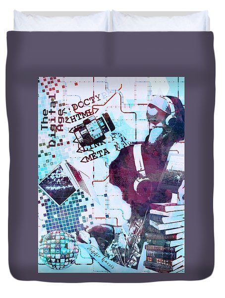 The Digital Age Duvet Cover