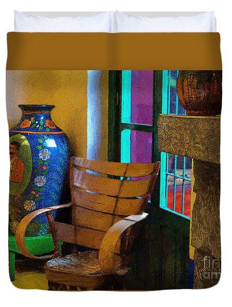 The Dining Room Corner In Frida Kahlo's House Duvet Cover