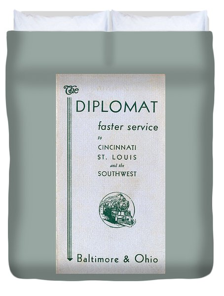 The Diplomat Duvet Cover