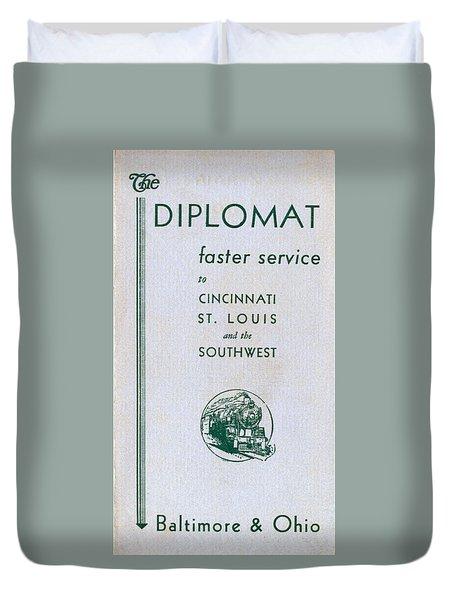 The Diplomat Duvet Cover