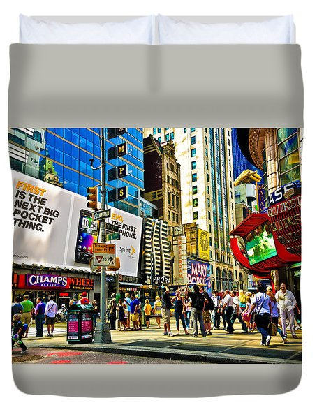 The Dirty Old City -nyc Duvet Cover