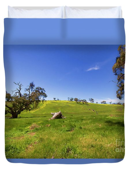 The Distant Hill Duvet Cover by Douglas Barnard
