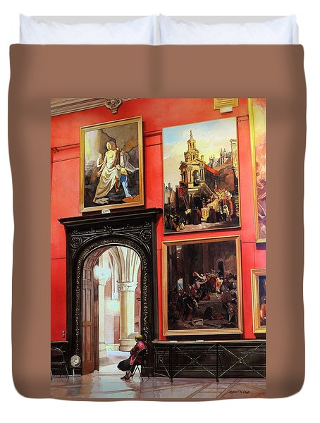 The Docent Duvet Cover