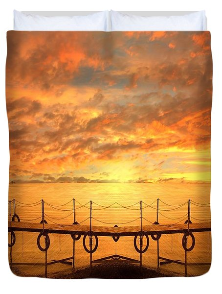 The Dock Duvet Cover by Jacky Gerritsen