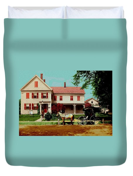 The Doctor Heads Out On A House Call Duvet Cover