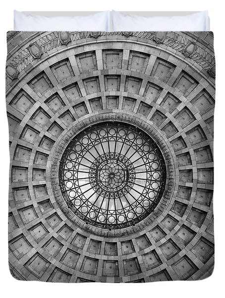 The Dome Bw  Duvet Cover