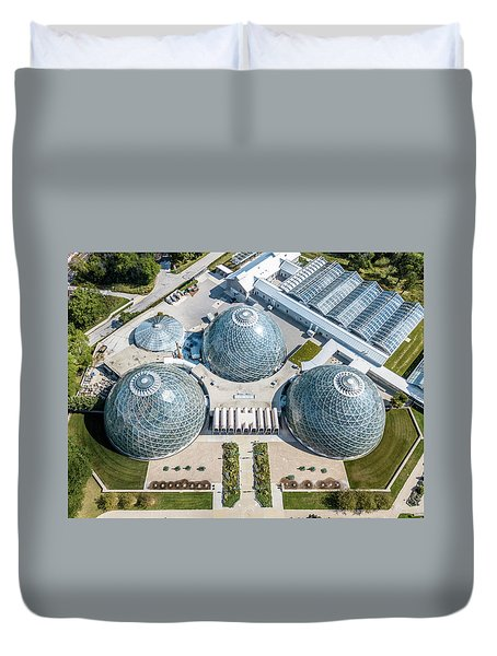 Duvet Cover featuring the photograph The Domes by Randy Scherkenbach