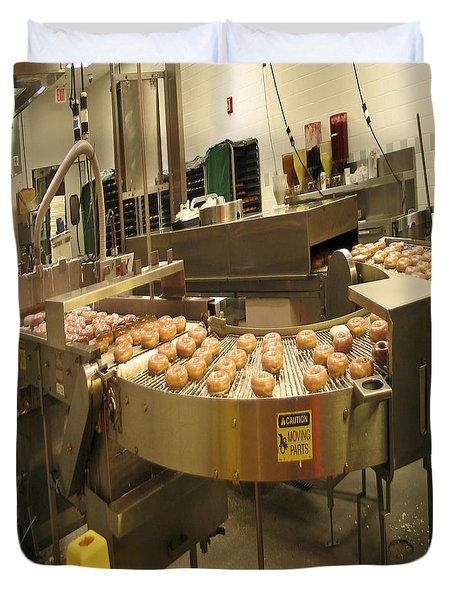 The Doughnut Machine Duvet Cover by Carol F Austin